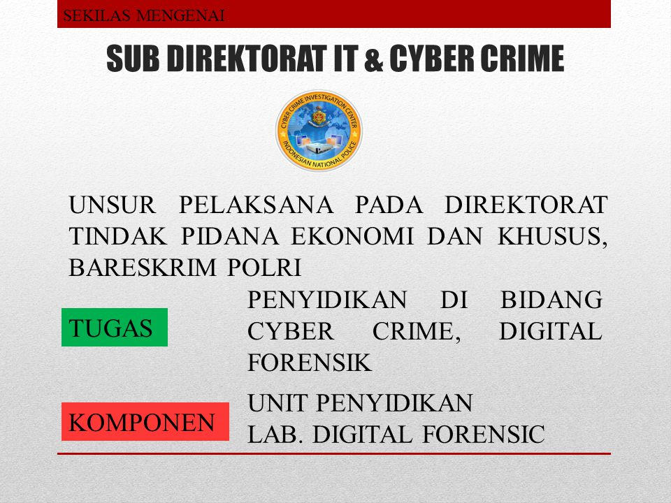 SUB DIREKTORAT IT & CYBER CRIME