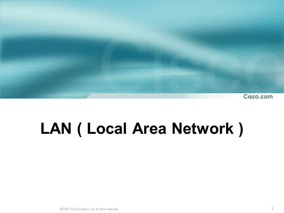 LAN ( Local Area Network )