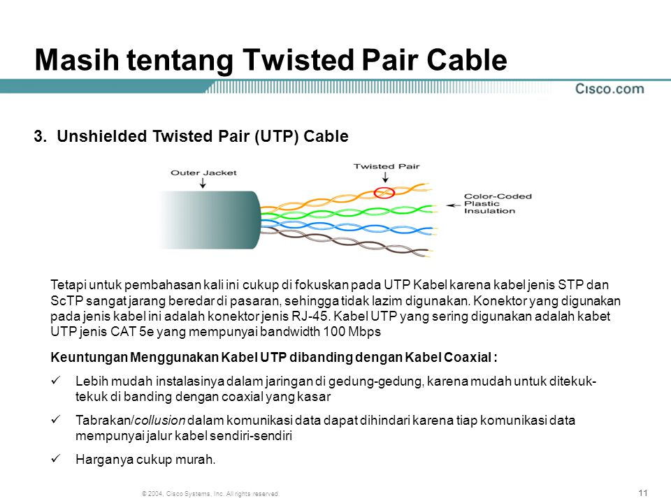 Masih tentang Twisted Pair Cable