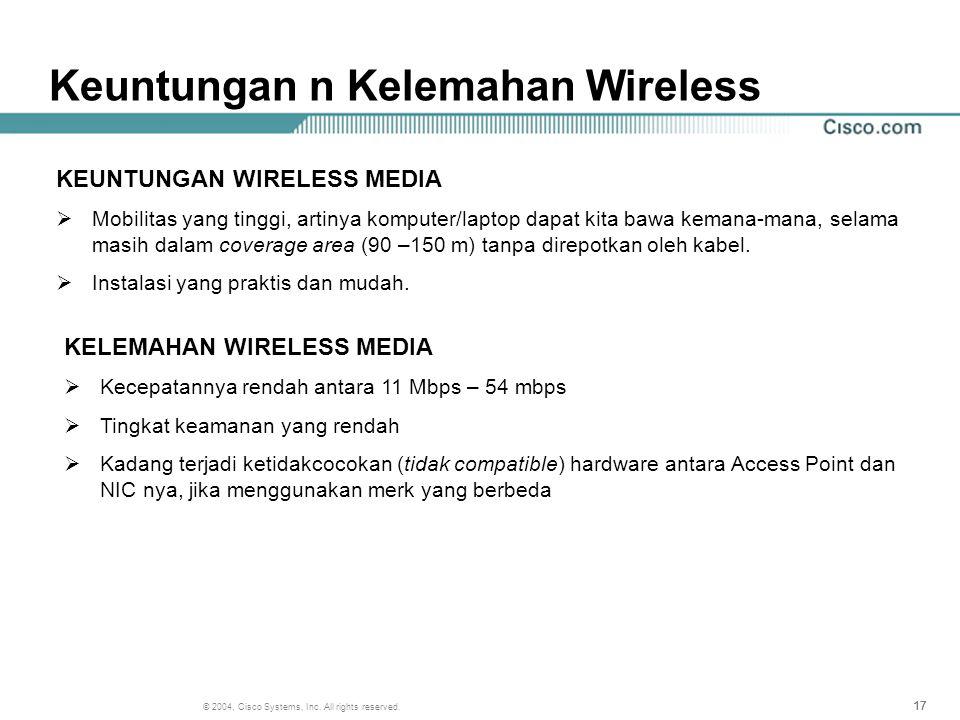 Keuntungan n Kelemahan Wireless