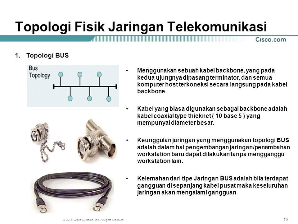 Topologi Fisik Jaringan Telekomunikasi