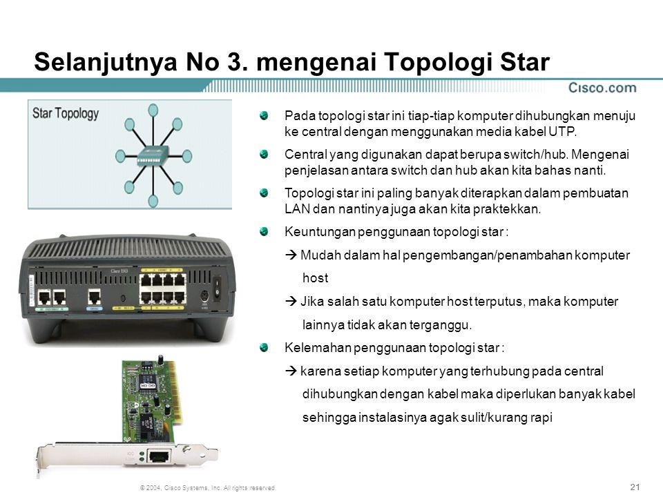 Selanjutnya No 3. mengenai Topologi Star