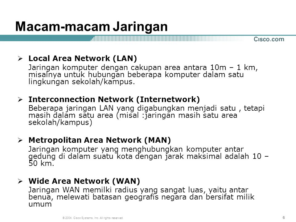 Macam-macam Jaringan Local Area Network (LAN)
