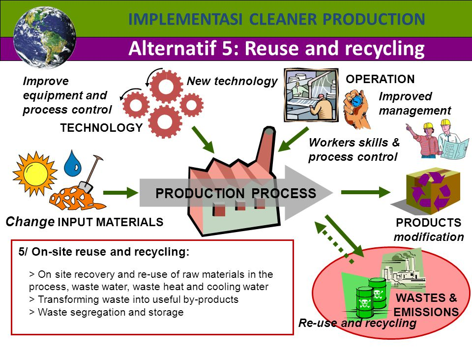 Alternatif 5: Reuse and recycling