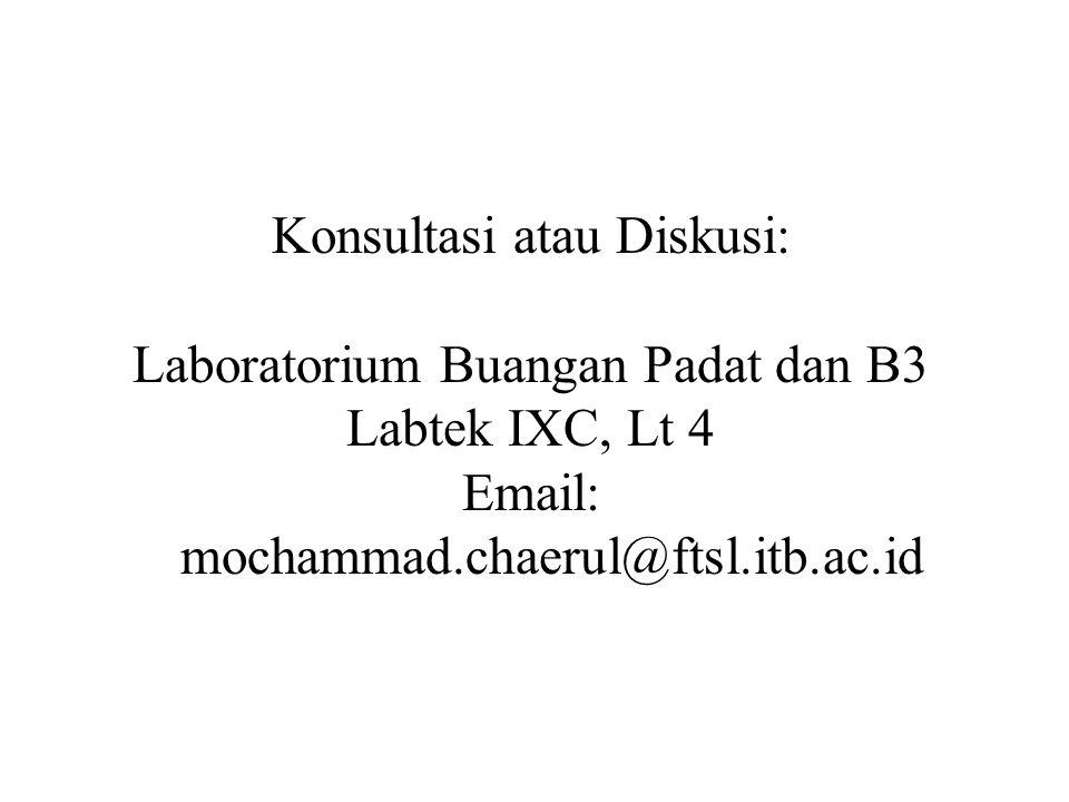 Konsultasi atau Diskusi: Laboratorium Buangan Padat dan B3