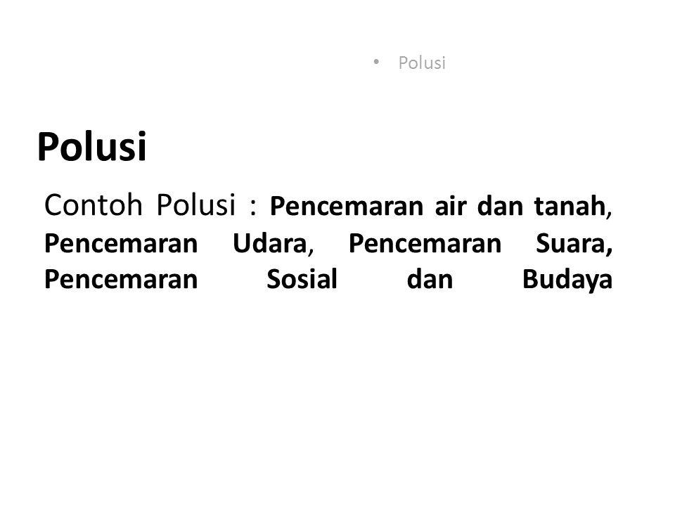 Polusi Polusi.