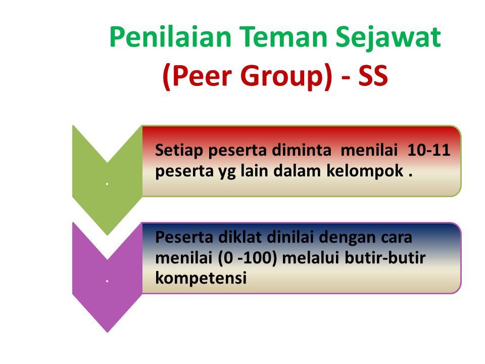 Penilaian Teman Sejawat (Peer Group) - SS