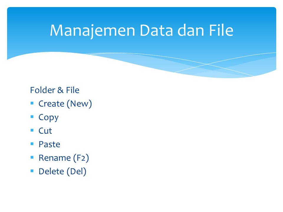 Manajemen Data dan File