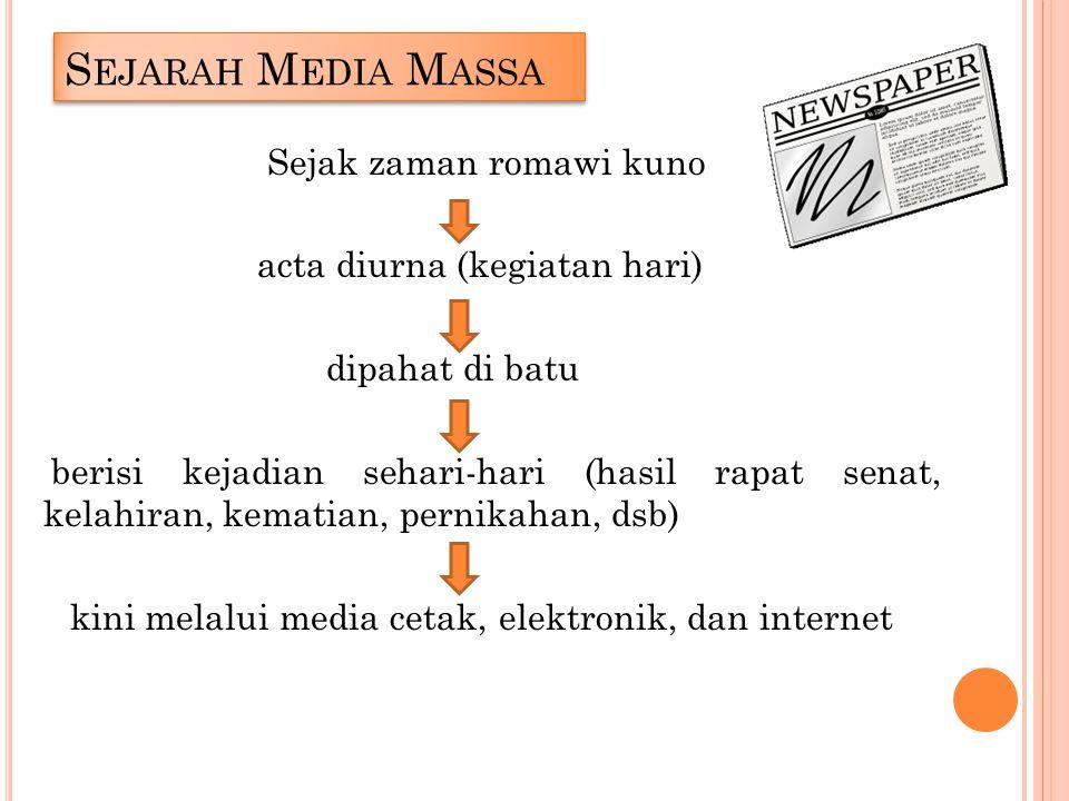 Sejarah Media Massa