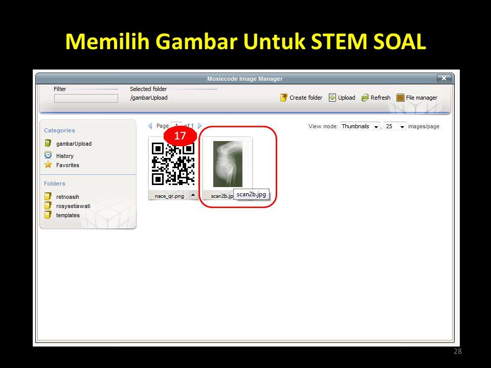 Memilih Gambar Untuk STEM SOAL