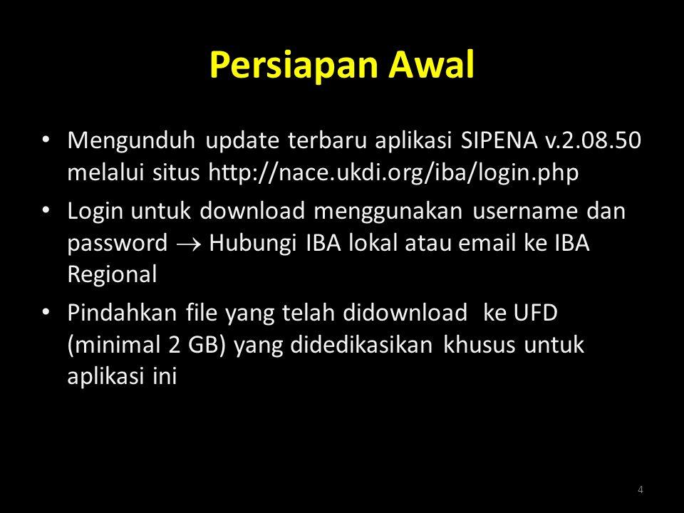 Persiapan Awal Mengunduh update terbaru aplikasi SIPENA v.2.08.50 melalui situs http://nace.ukdi.org/iba/login.php.