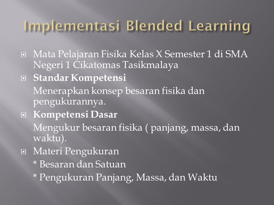 Implementasi Blended Learning