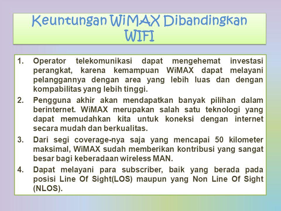 Keuntungan WiMAX Dibandingkan WIFI