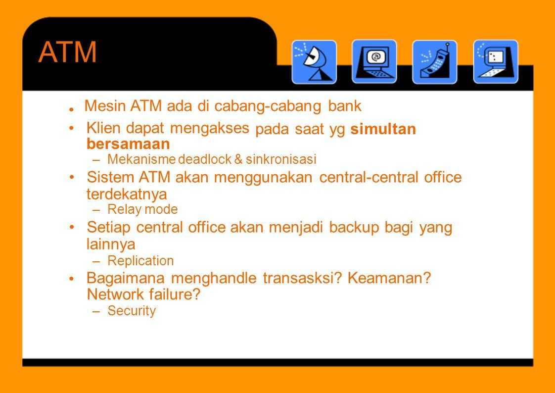 ATM Klien dapat mengakses bersamaan