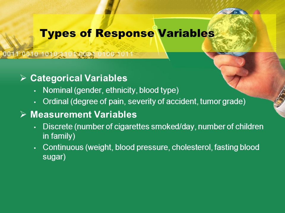 Types of Response Variables