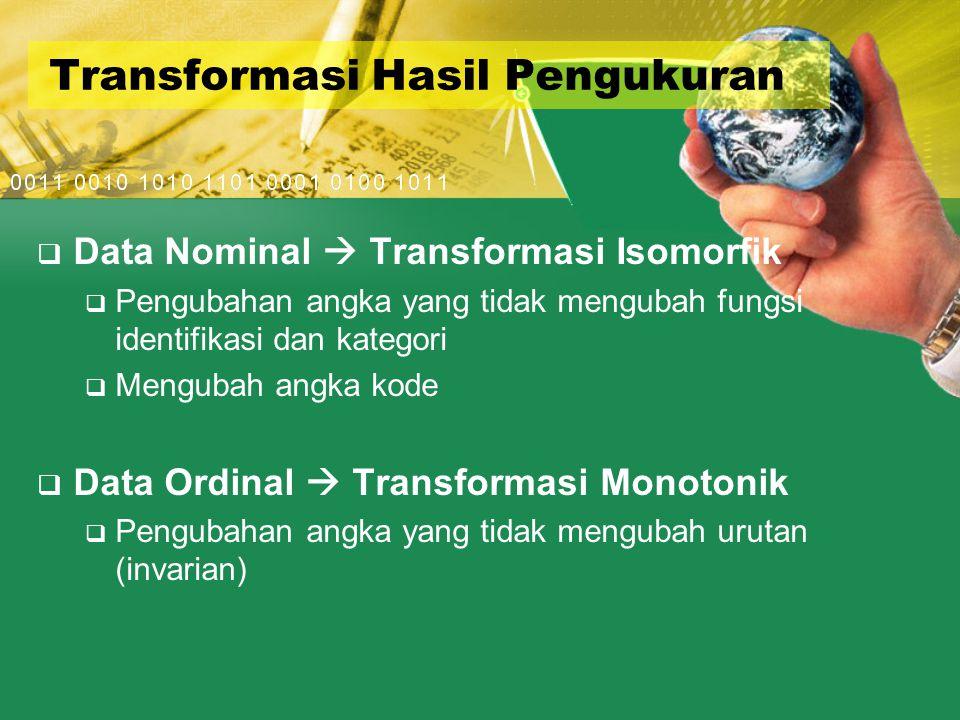 Transformasi Hasil Pengukuran