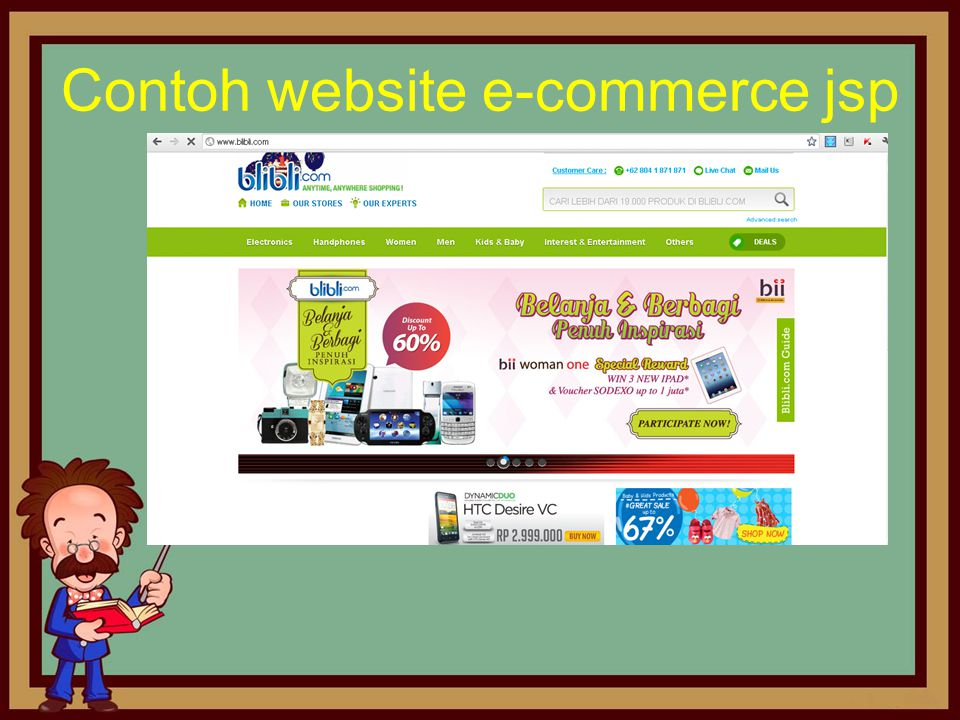 Contoh website e-commerce jsp