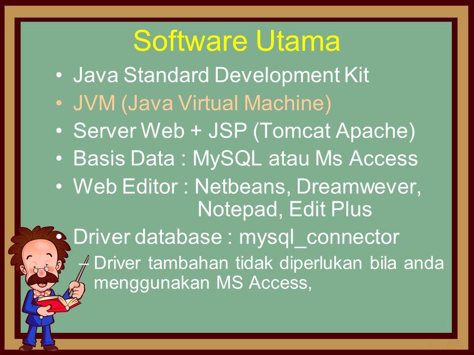 Software Utama Java Standard Development Kit