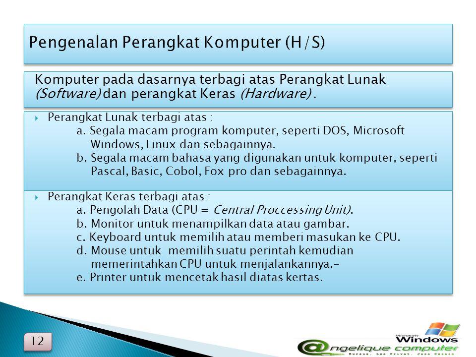 Pengenalan Perangkat Komputer (H/S)