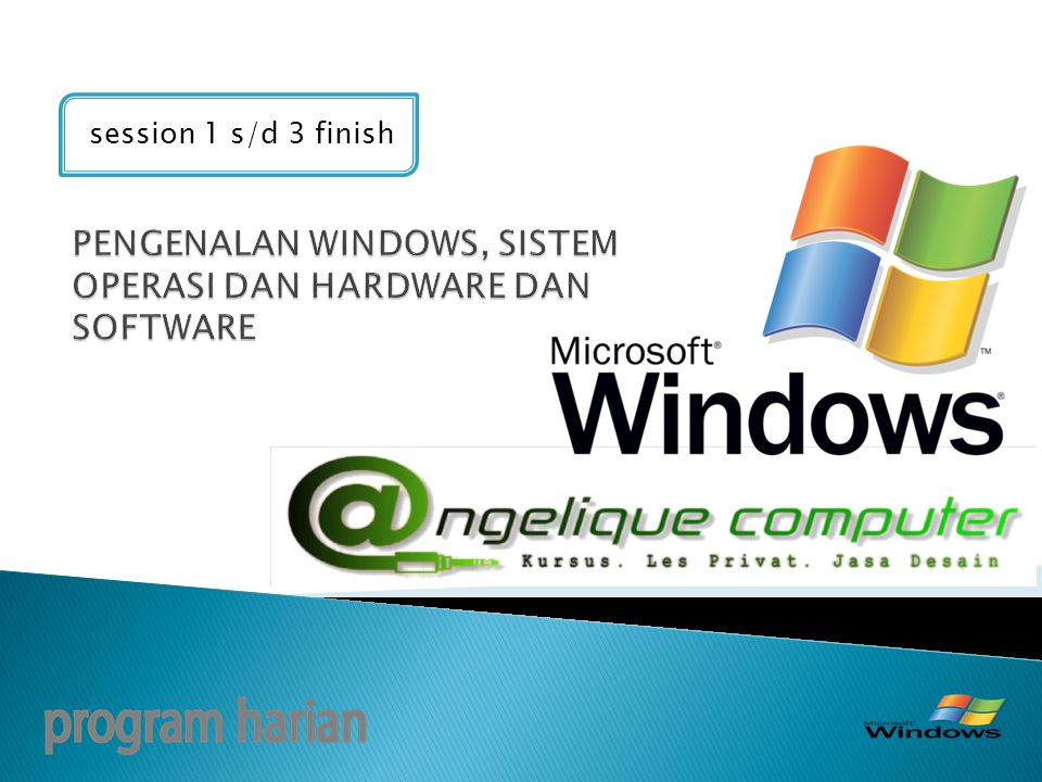 PENGENALAN WINDOWS, SISTEM OPERASI DAN HARDWARE DAN SOFTWARE