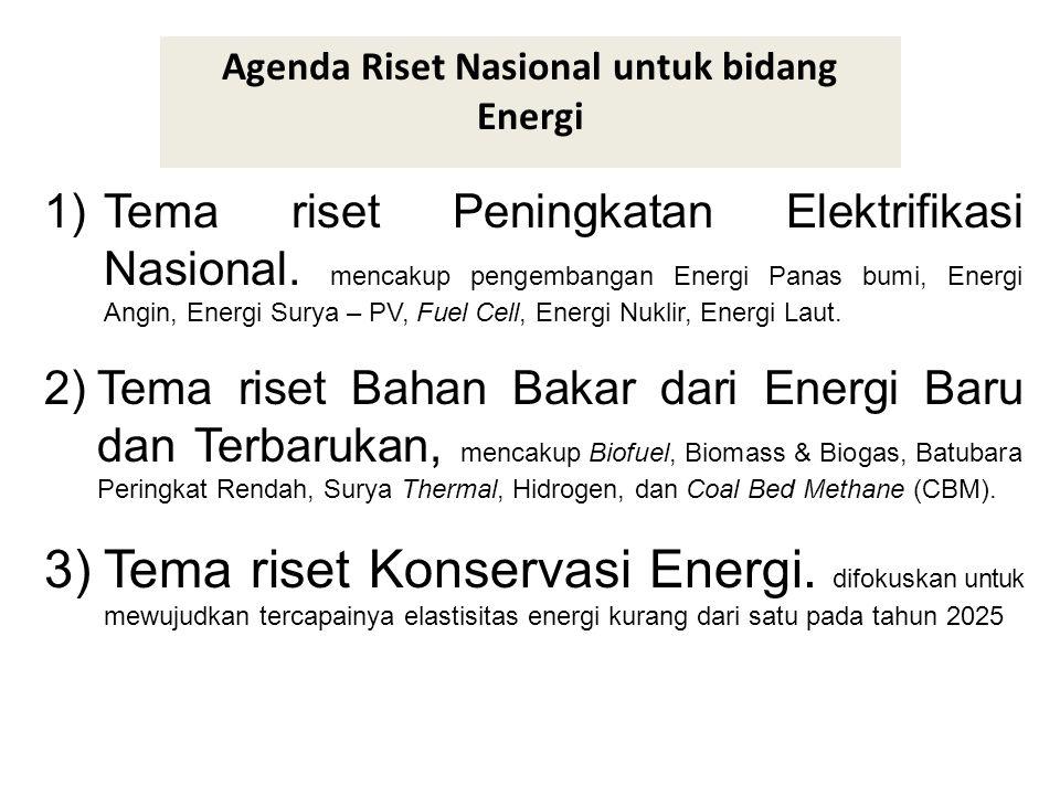 Agenda Riset Nasional untuk bidang Energi