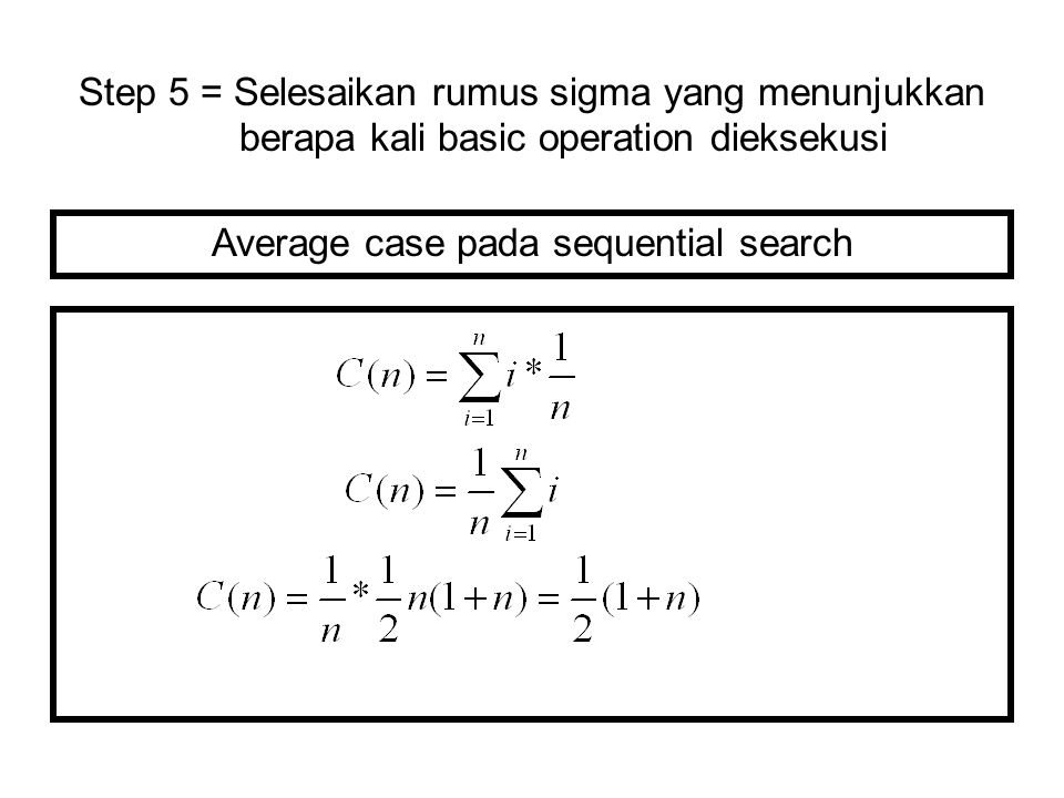 Average case pada sequential search