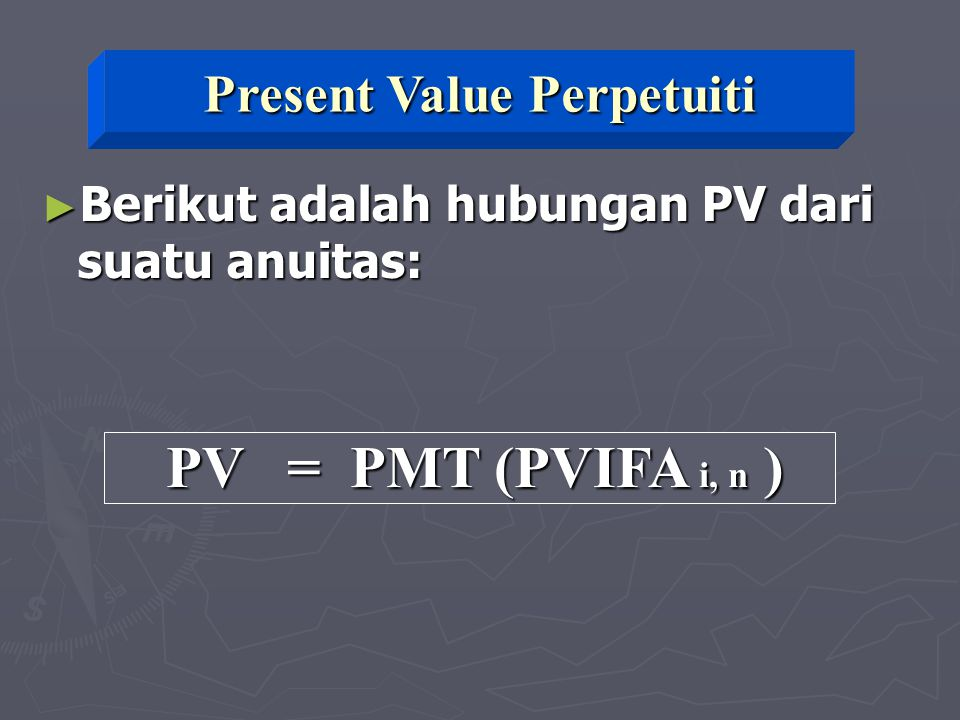 Present Value Perpetuiti