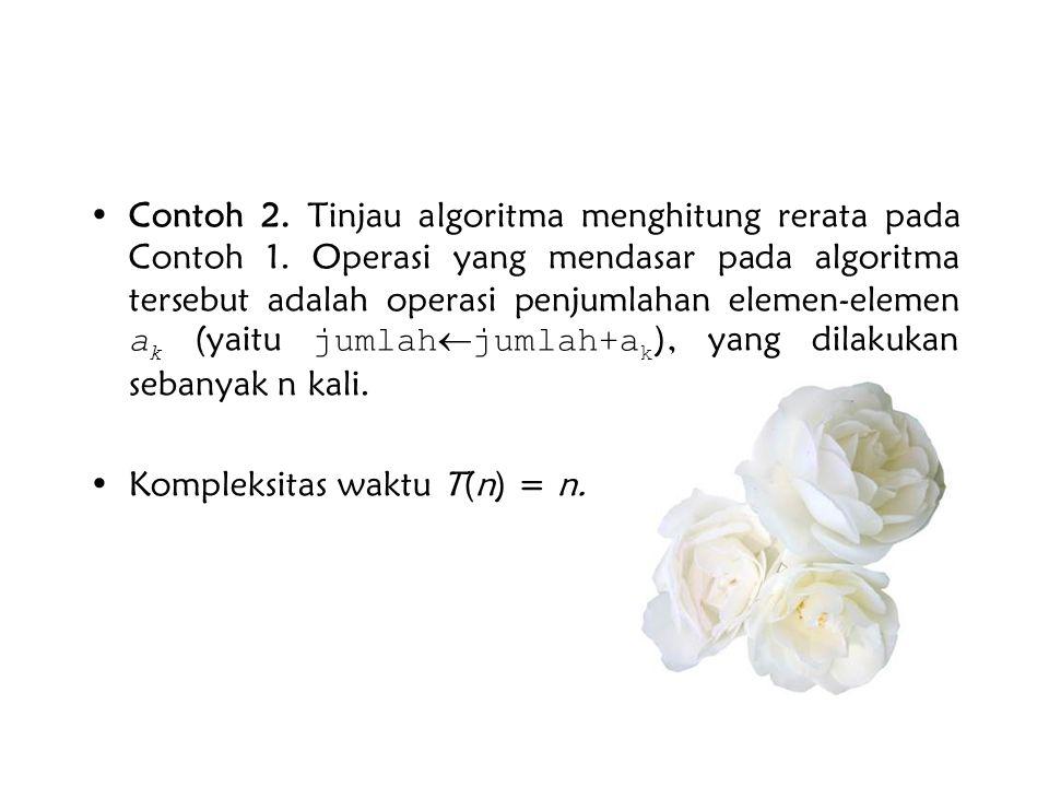 Contoh 2. Tinjau algoritma menghitung rerata pada Contoh 1