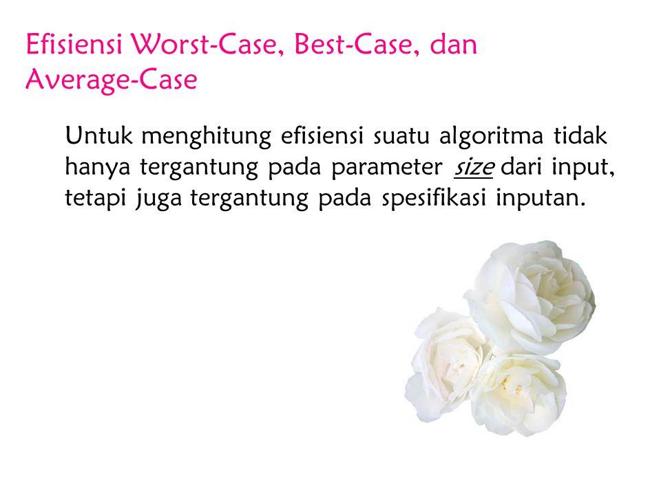 Efisiensi Worst-Case, Best-Case, dan Average-Case