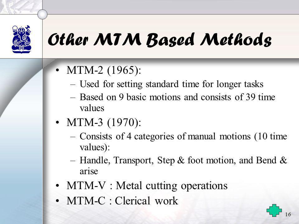 Other MTM Based Methods