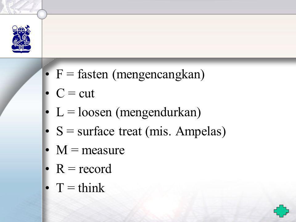 F = fasten (mengencangkan)