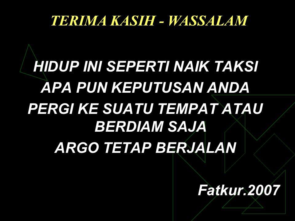 TERIMA KASIH - WASSALAM