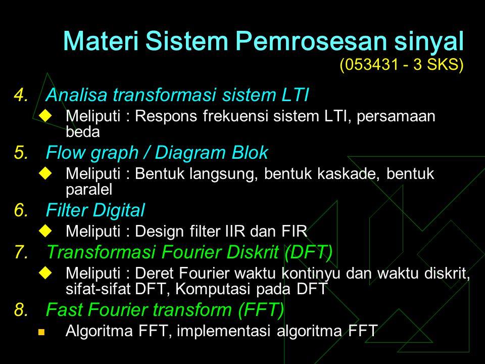 Materi Sistem Pemrosesan sinyal (053431 - 3 SKS)