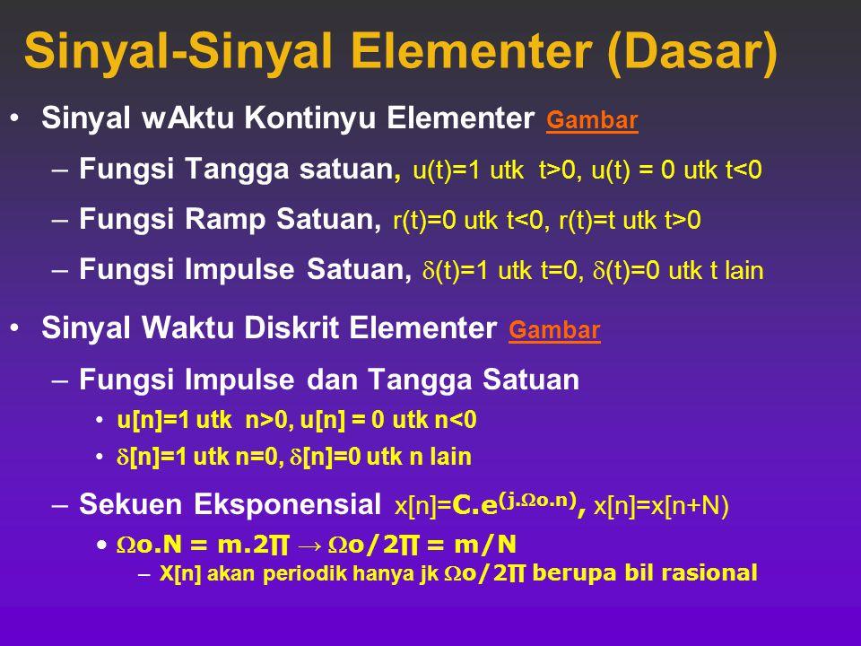 Sinyal-Sinyal Elementer (Dasar)