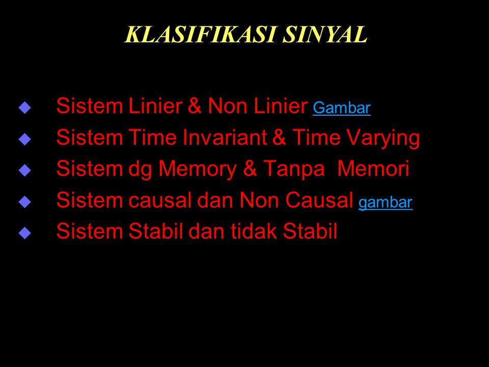KLASIFIKASI SINYAL Sistem Linier & Non Linier Gambar
