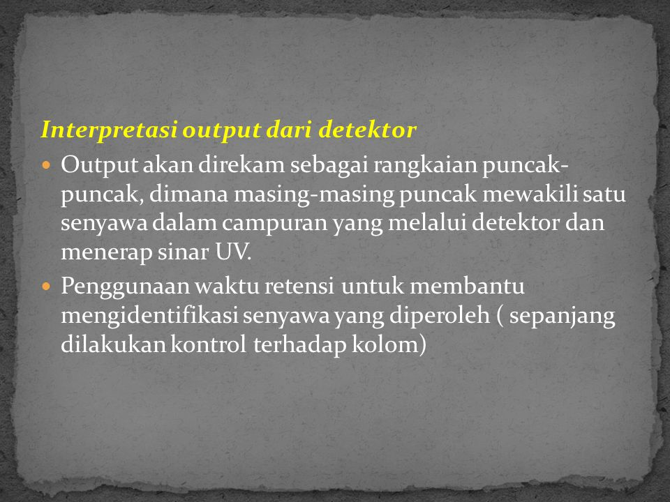 Interpretasi output dari detektor