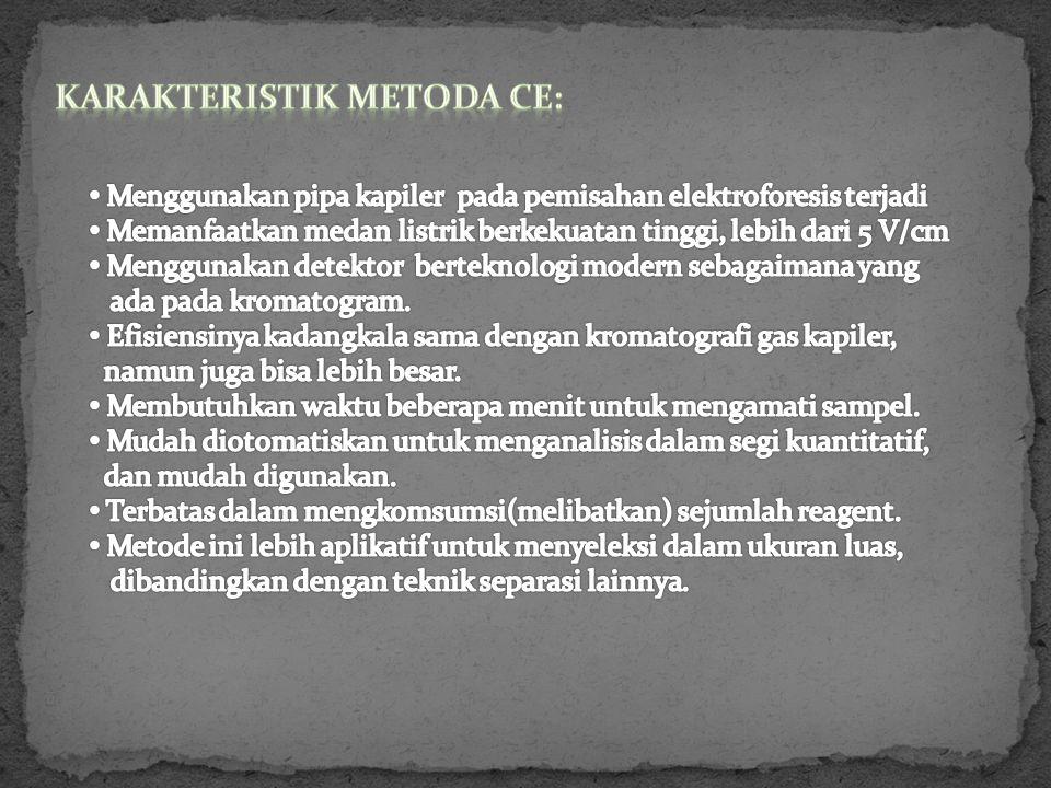 Karakteristik Metoda CE: