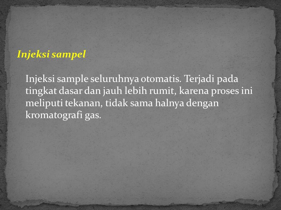 Injeksi sampel Injeksi sample seluruhnya otomatis