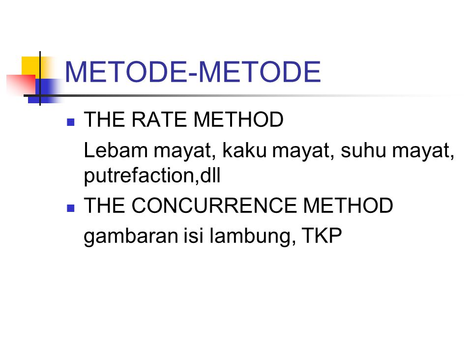 METODE-METODE THE RATE METHOD