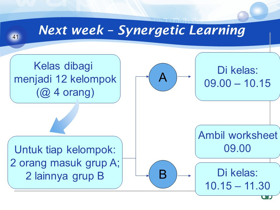 Next week – Synergetic Learning