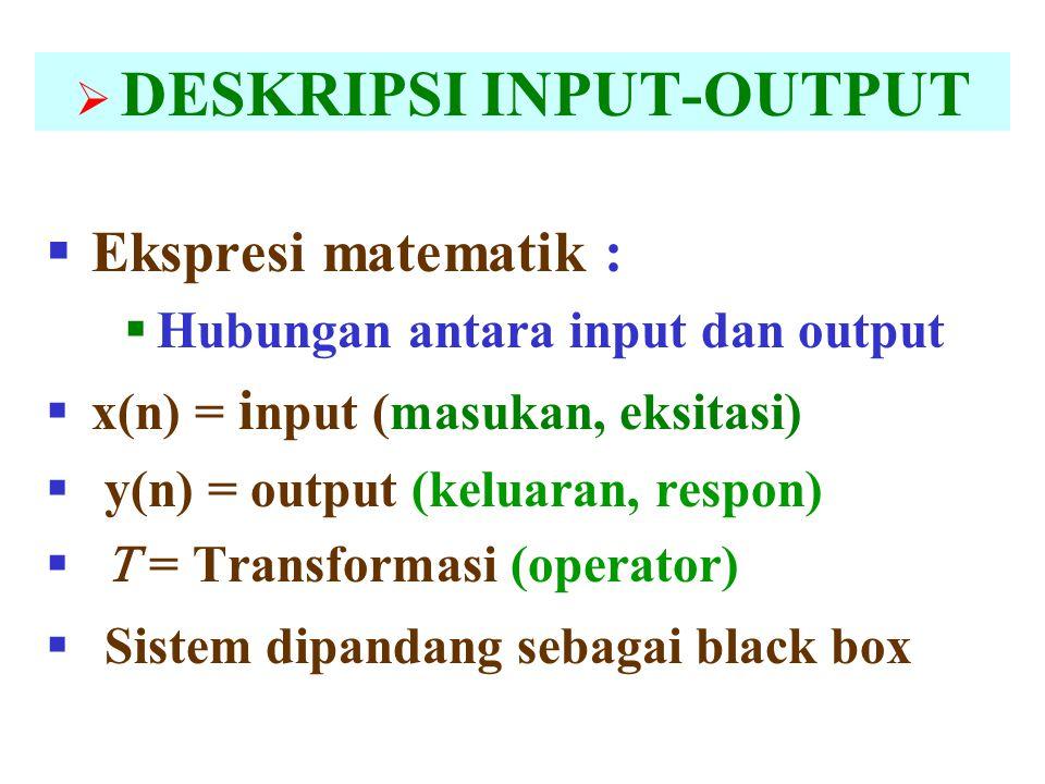 DESKRIPSI INPUT-OUTPUT