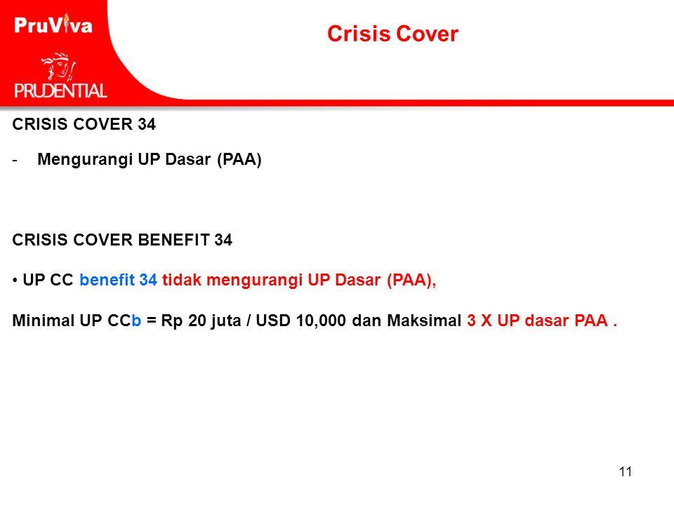 Crisis Cover CRISIS COVER 34 Mengurangi UP Dasar (PAA)