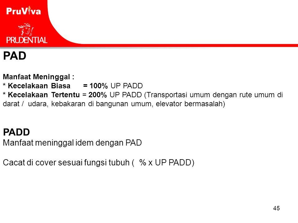PAD PADD Manfaat meninggal idem dengan PAD