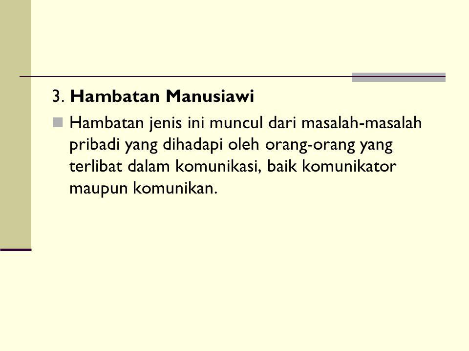 3. Hambatan Manusiawi