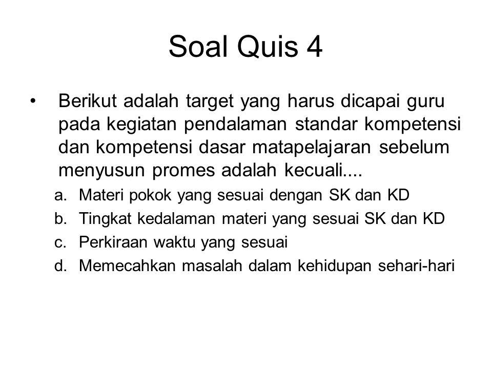 Soal Quis 4