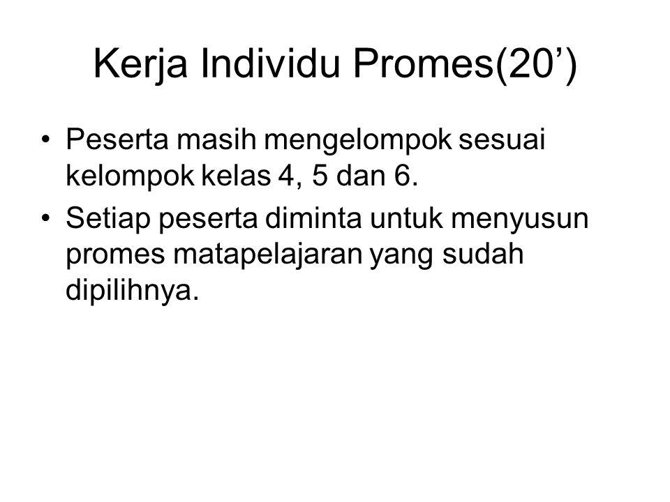 Kerja Individu Promes(20')