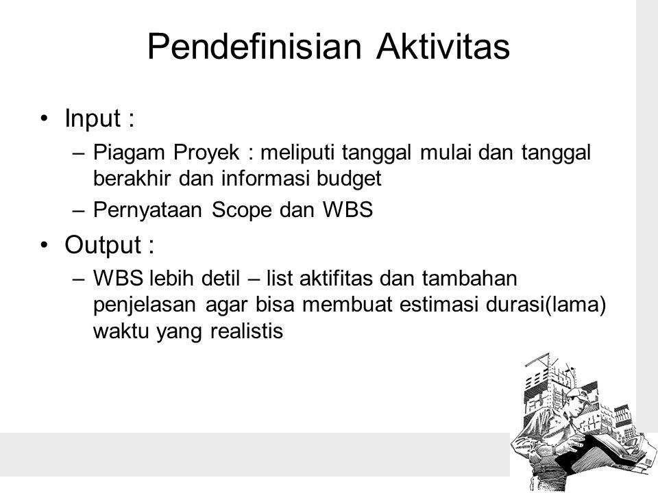 Pendefinisian Aktivitas
