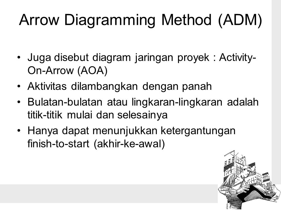 Pertemuan 6 manajemen waktu ppt download 8 arrow diagramming method adm juga disebut diagram jaringan proyek ccuart Image collections