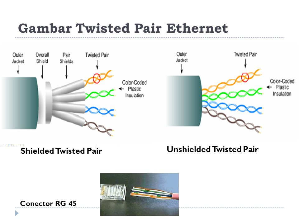 Gambar Twisted Pair Ethernet