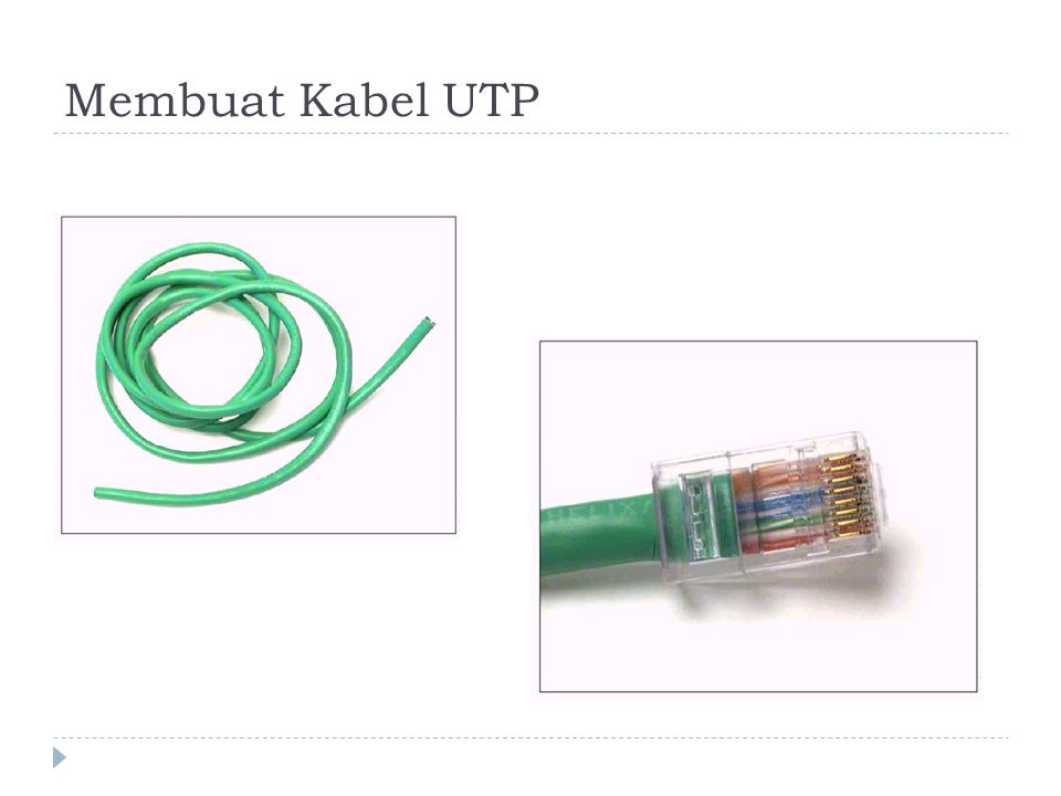 Membuat Kabel UTP